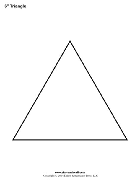 Triangle Template For Kid Craft by Triangle Templates 6 Inch Tim S Printables