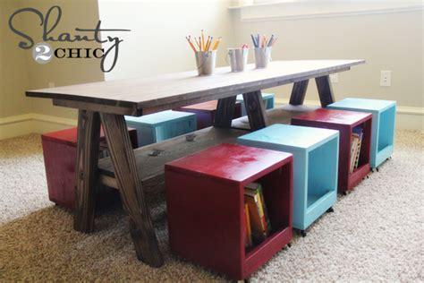 play desk for children s play plans furnitureplans
