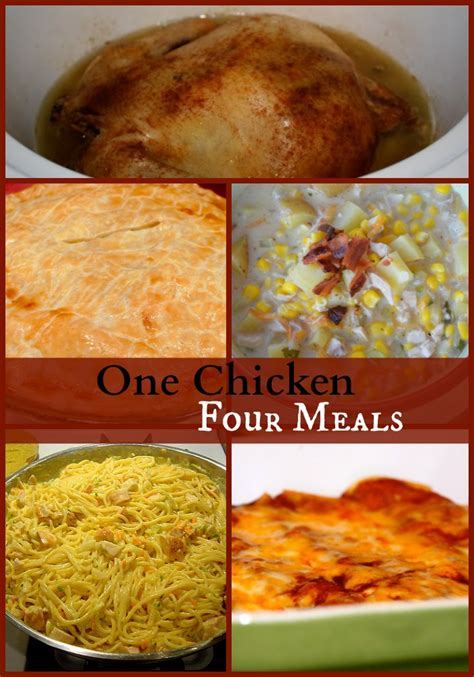 crockpot meals with chicken how to get four meals from a whole chicken the happy housewife cooking