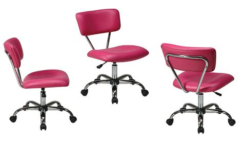 Pink Desk Swivel Office Chair Chrome Frame & Casters 8 Seater Dining Table And Chairs Folding Butterfly Chair Christopher Knight Club Tranquil Ease Massage Parts Where To Get Covers Soccer Ottoman Wing Back Cover Giant Papasan