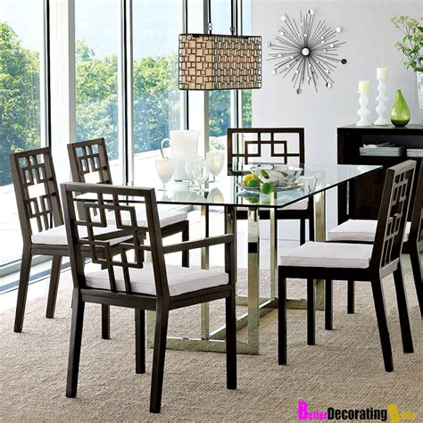 glass table with chairs modern dining room furniture design amaza design