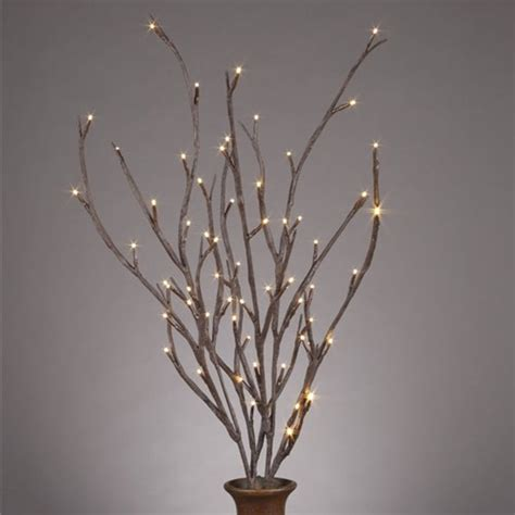 lit branches lighted willow branches contemporary home decor