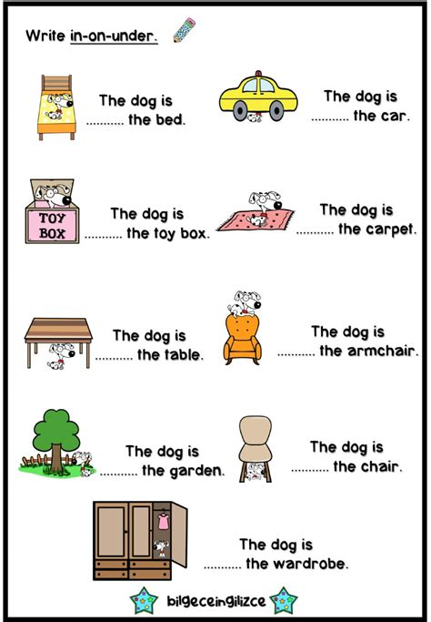 prepositions  place  exercise  beginner