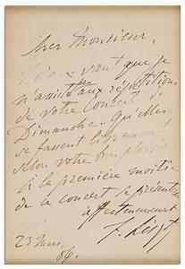 lot detail composer franz liszt 1886 autograph letter signed With autograph letters