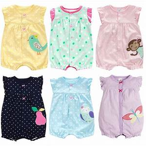 New Born Baby Clothes Cotton Baby Girl Clothes 2017 Summer ...
