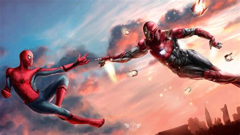 Iron Spider Background by Iron And Spider Wallpapers Wallpaper Cave
