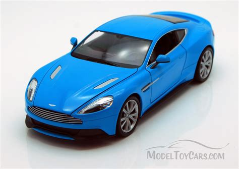 car toy blue aston martin vanquish blue welly 24046 1 24 scale