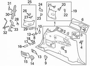 Chevrolet Traverse Seat Belt Guide  Rear   Driver Side