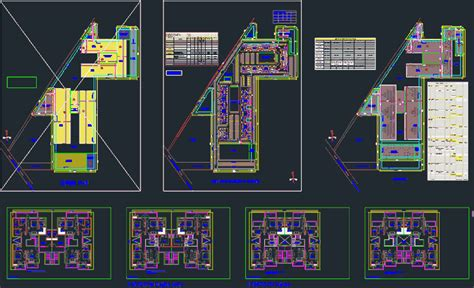 housing project india   bedroom units dwg full