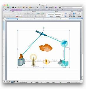 Add A Telecommunication Network Diagram To A Ms Word