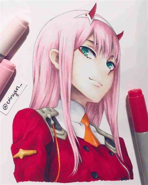 Zero Two Drawing Tutorial By Anime Ignite Zerotwo By Us