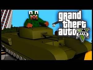 Minecraft - GTA V Mod - Grand Theft Auto 5 - TANKS, GANGS ...