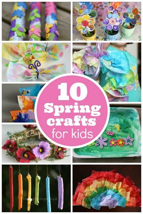 10 easy crafts for toddlers and preschoolers 790 | 10 spring crafts for kids
