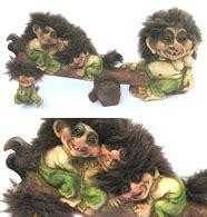 wertvolles 2 stück ny form trolle limitierte auflagen aus norwegen