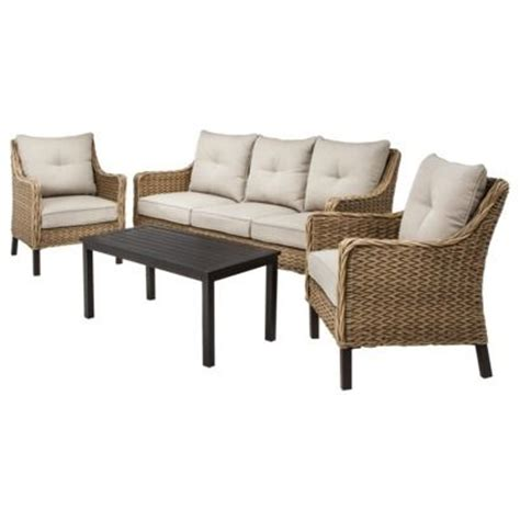 perry 4 seagrass wicker conversation set from target