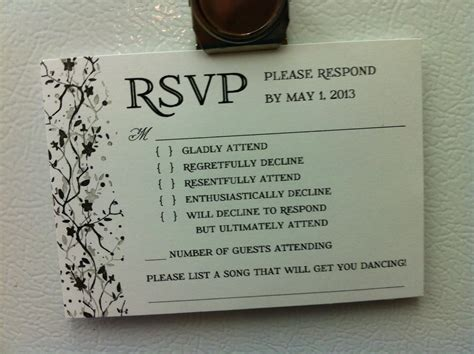 Wedding Rsvp Reveals How Some People Feel About Attending