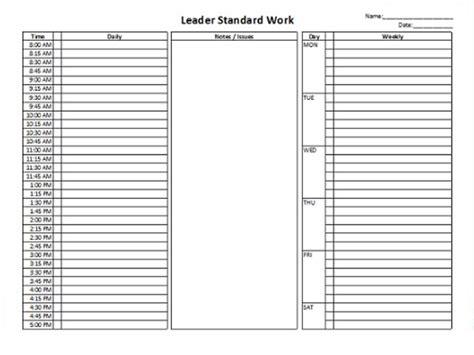 standard work template standard work template playbestonlinegames