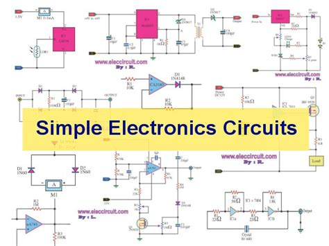 simple electronic circuit  beginners eleccircuitcom