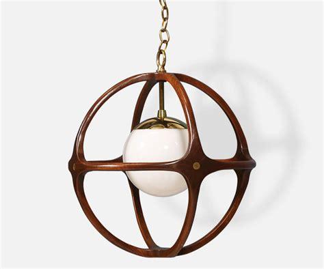 danish modern la mid century walnut globe pendant