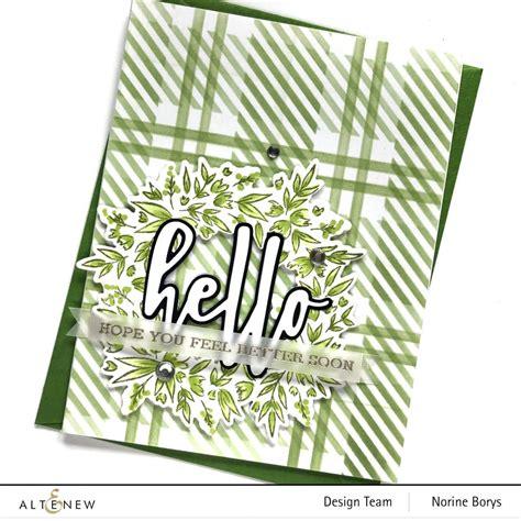 blossom wreath cards  ways altenew blog