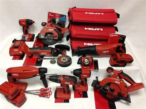 hilti akku set hilti 18v cordless 9 tool lithium ion combo 21 6v kit set 4 batteries 3 bags new ebay