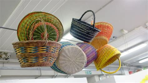 dyed cane shopping baskets   students    year