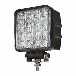 48 Watt Led Work Lights 4 U0026quot  Square Warning And Emergency Light