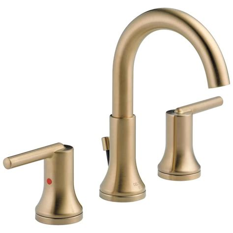 delta trinsic champagne bronze  handle widespread