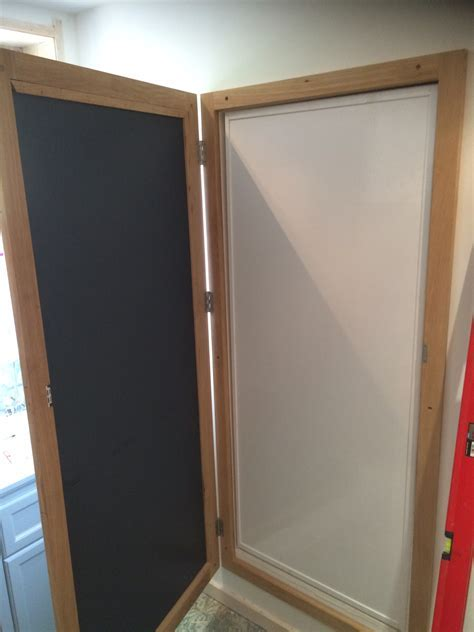 Mirrored secret door, The Wooden Workshop, Oakford, Devon