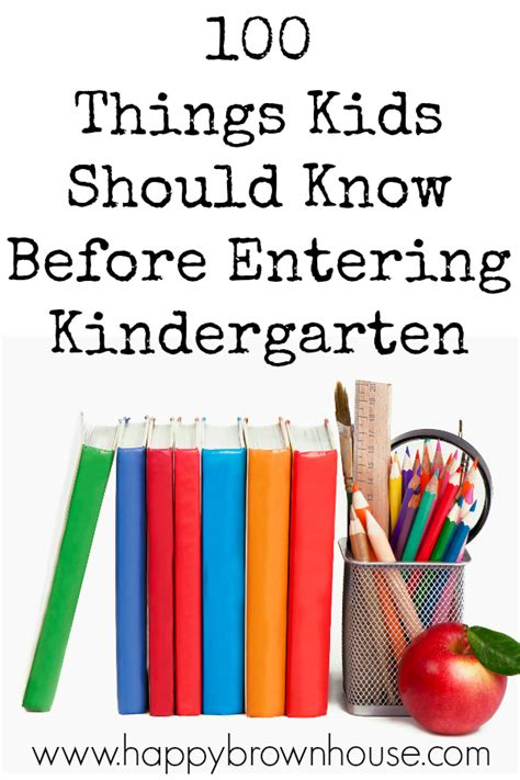 100 Things Kids Should Know Before Entering Kindergarten