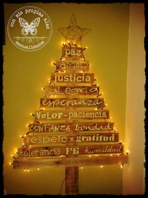 arbol  trozos de madera fiestas pinterest navidad