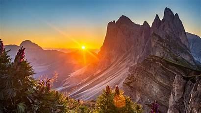 4k 5k Italy Nature Dolomites Sunrise Wallpapers