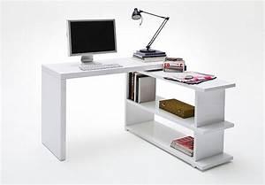 Schreibtisch Mit Regal : trudi schreibtisch mit regal wei hochglanz lackiert ~ Whattoseeinmadrid.com Haus und Dekorationen