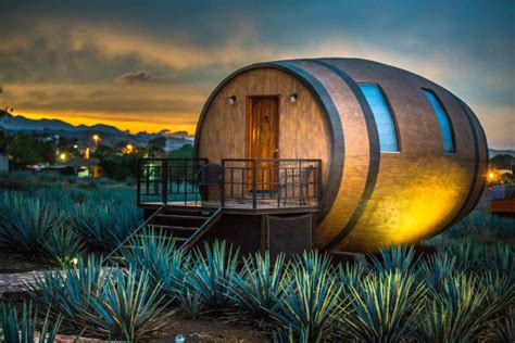 barrel shaped hotel  mexico   rented  night