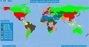 Average yearly precipitation - by country