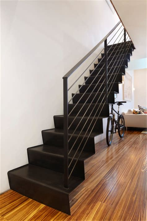 meat packing duplex contemporary staircase  york