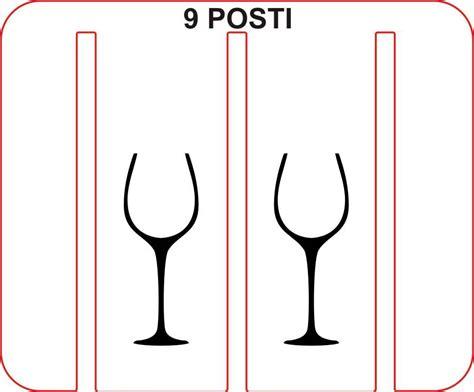 Rastrelliera Bicchieri by Rastrelliera Porta Bicchieri Porta Calici 9 Posti Legno E