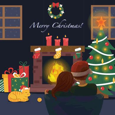 Happy holidays and merry christmas 2018: Merry Christmas GIFs. 64 Beautiful Animated Greeting Cards