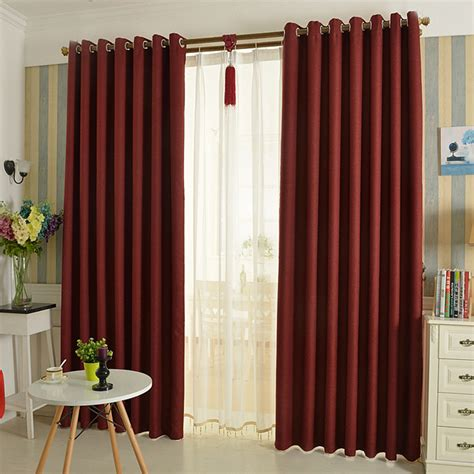 thick linen curtain thermal insulated blackout curtains