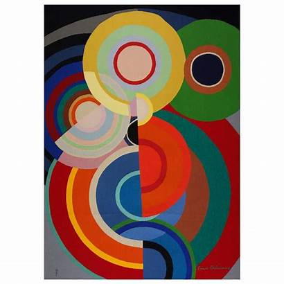 Delaunay Sonia Robert Shapes 1stdibs Geometric Tapestry