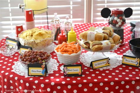 cuisine mickey minnie mouse birthday events to celebrate