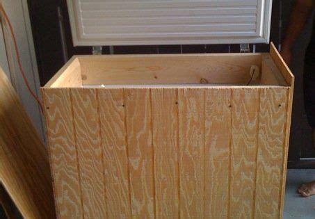wood paneling  hide  chest freezer