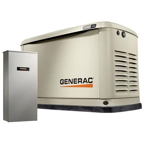 Generac Portable Generator Shed by Generac 11 000 Watt Lp 10 000 Watt Ng Air Cooled