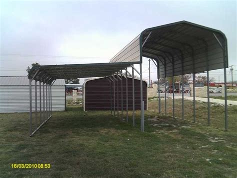 American Steel Carports, Carport With Attached Leanto