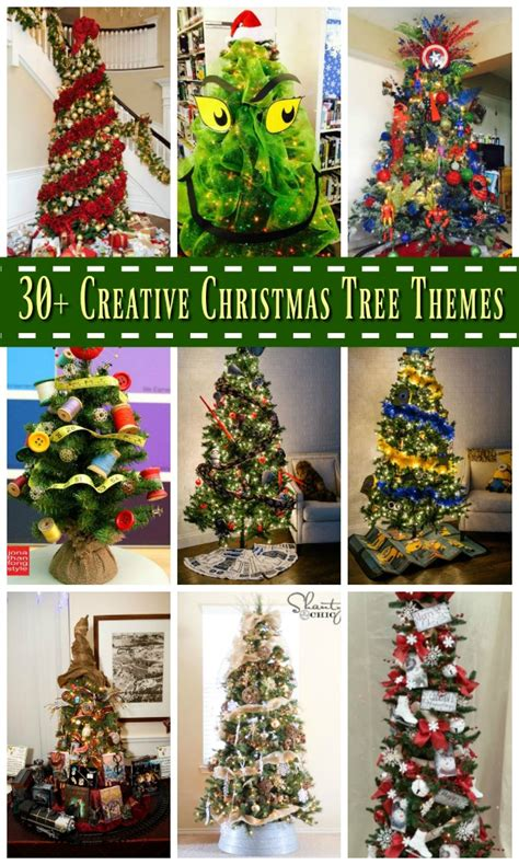 creative christmas tree theme ideas   christmas