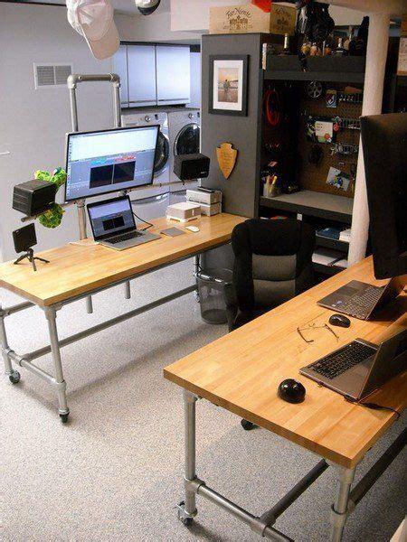 dual pole mounted monitor desk audio   room