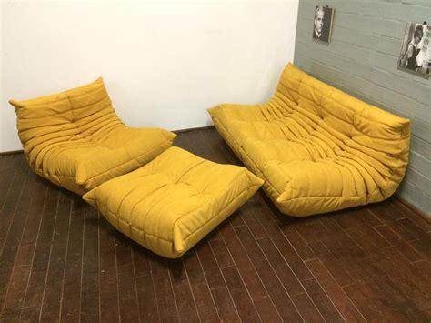 canape ligne roset nomade yellow alcantara togo sofa set by michel ducaroy for ligne