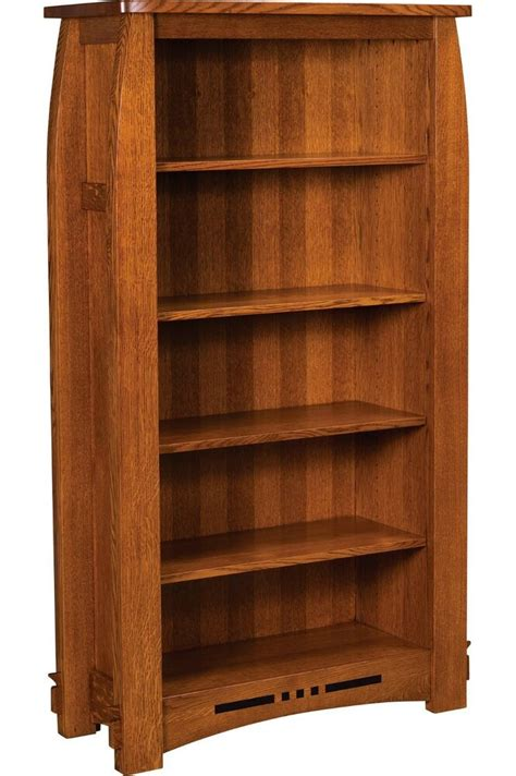 amish mission colebrook bookcase book shelf solid wood