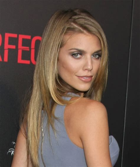AnnaLynne McCord Long Straight Formal Hairstyle   Dark Blonde