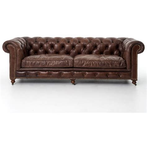 four hands carnegie sofa four hands carnegie conrad 96 quot sofa with cigar upholstery